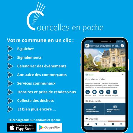 Communiqué de presse - Courcelles en poche, une application 100% locale